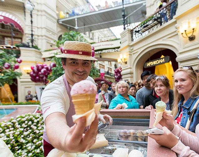 Дегустация мороженного в Москва сити